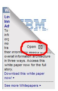 IBM Banner Ad Open Button